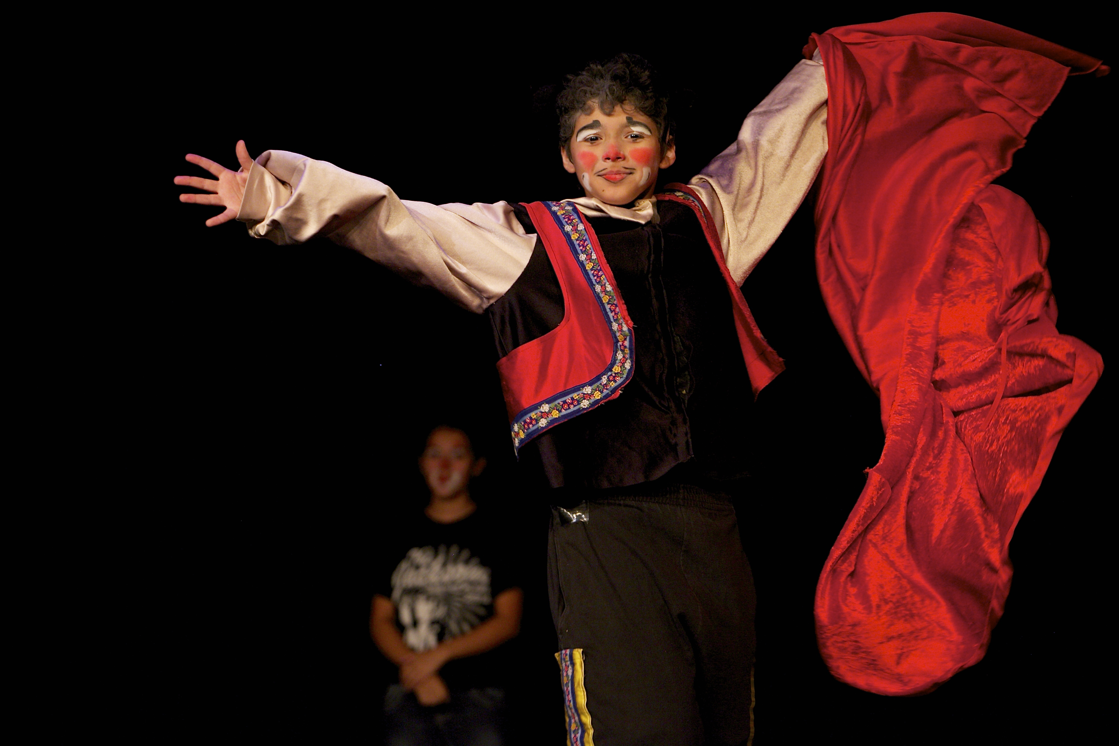 Circus Camp 2014 . Guadalupe Theater-Bullfighter Gag
